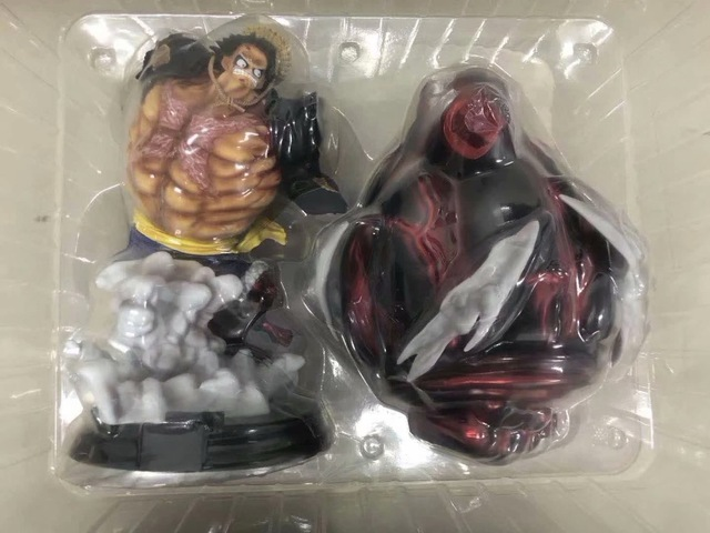 Anime One Piece Snake Man Gear Fourth P O P XXL Monkey D Luffy PVC Action