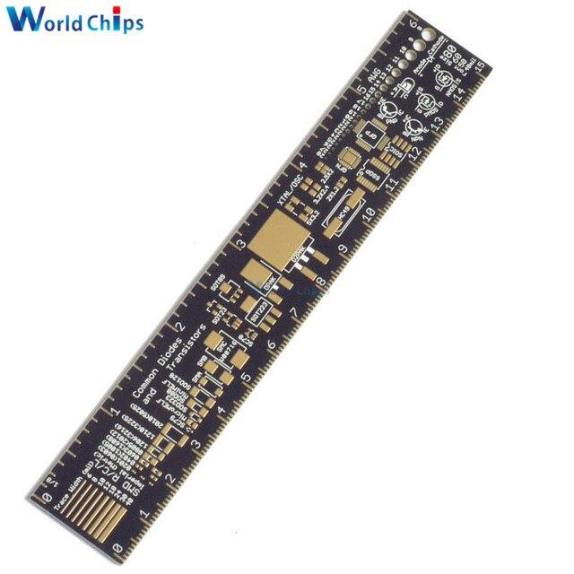 PCB regla para ingenieros electrónicos para los Geeks responsables para Arduino Fans PCB referencia gobernante PCB unidades de embalaje v2-6