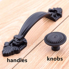 5″ modern simple black furniture handlesantique black dresser kitchen cabinet door handle knob 110mm black unfold install pull