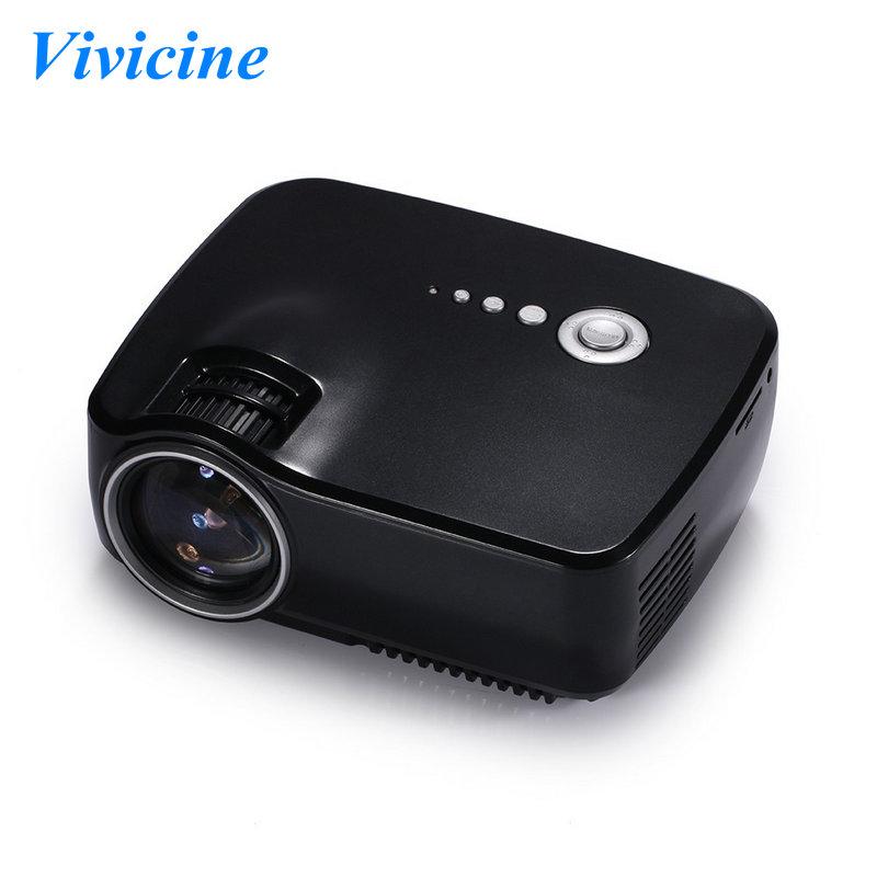 Prix pour Vivicine GP70 Min Projecteur, 1200 Lumens 800x480 pixels Portable Pico LED HDMI USB TV Numérique DVB-T À Domicile théâtre Proyector Beamer