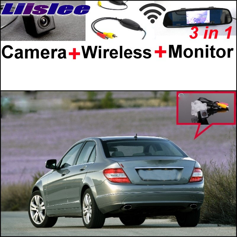Liislee 3in1 Special WiFi Camera + Wireless Receiver + Mirror Monitor Rear View Parking System For Mercedes Benz C Class W204