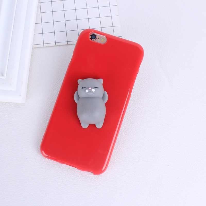 b05e3f0b19 ... 3D Cute Squishy Bear Seal Phone Case For iphone 5 5s se 6 6s 7 7 ...