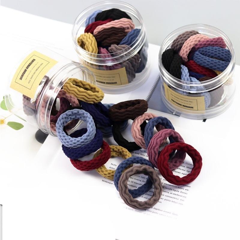 20PCS Women Girls Simple Basic Elastic Hair Bands Tie Gum Scrunchie Ponytail Holder Rubber Bands Fashion Hair Accessories