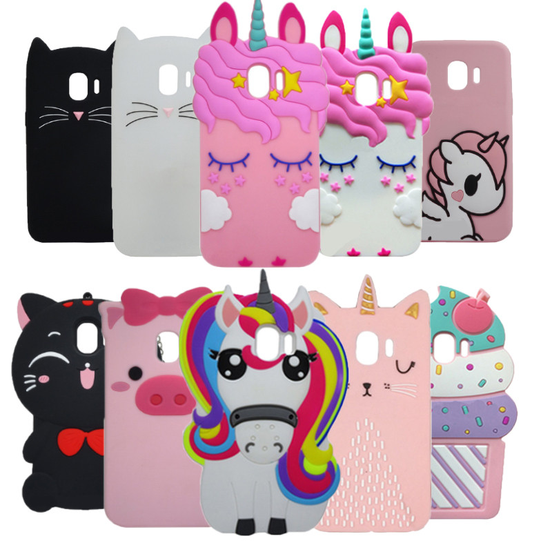 For Samsung Galaxy J2 Pro 2018 Case 3D Cartoon Minnie Unicorn Silicone Cover Case For Samsung J2 Pro 2018 J250F Coque Phone Capa