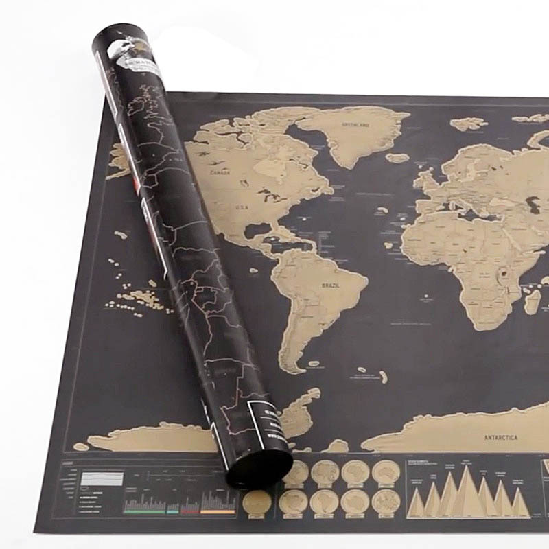 Diy deluxe world map poster black traveler scratch off map scratch diy deluxe world map poster black traveler scratch off map scratch map of the world travel edition personalized journal log gift in wall stickers from home gumiabroncs Image collections