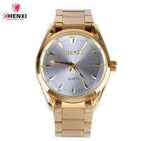 2017 CHENXI 3 COLORS Clock Gold Fashion Men Watch Stainless Steel Quartz Watches Wrist Watch Wholesale