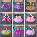 2015 Tulle Fluffy Little Baby Girl Tutu Skirt With Satin Ribbon Trim Sewn Puffy Baby Tutu Skirt 2T-8T Free Shipping