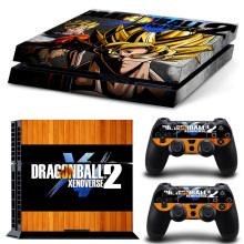 Dragon Ball Z Decal Skin Ps4 Console Cover For Playstaion 4 PS4 Skin Stickers+2Pcs Controller Protective Skins