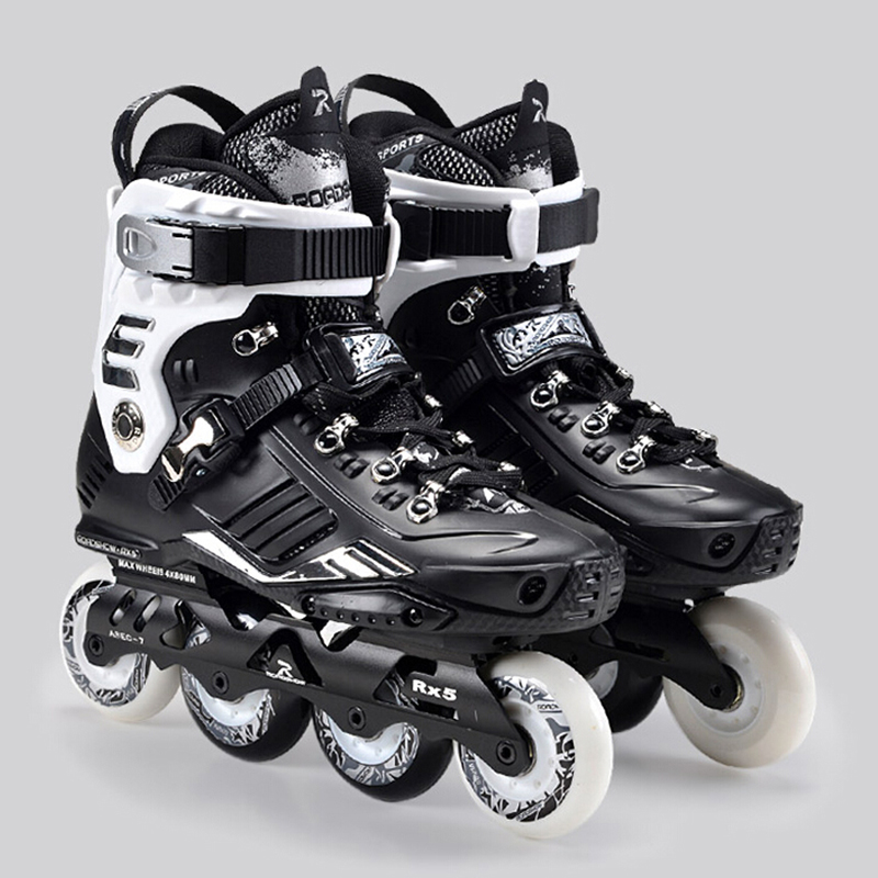Professional Women Men's Inline Skate Shoes Outdoor Freestyle Roller Skating Boots Slalom FSK Patines Sports Sneakers 1 pair ice skating blade maple dislocation inline skate roller skating shoes diy 380mm 410mm 430mm length free shipping