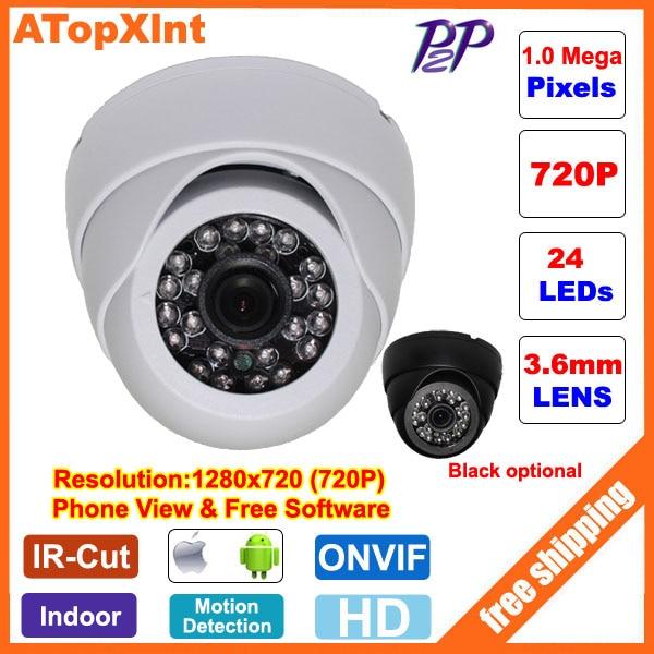 bilder für HD 1,0 MP 720 P 2,0 MP 1080 P Dome sicherheit Überwachung CCTV IP kamera IR nacht vison ONVIF 2,0 netzwerk indoor Cam P2P telefon ansicht