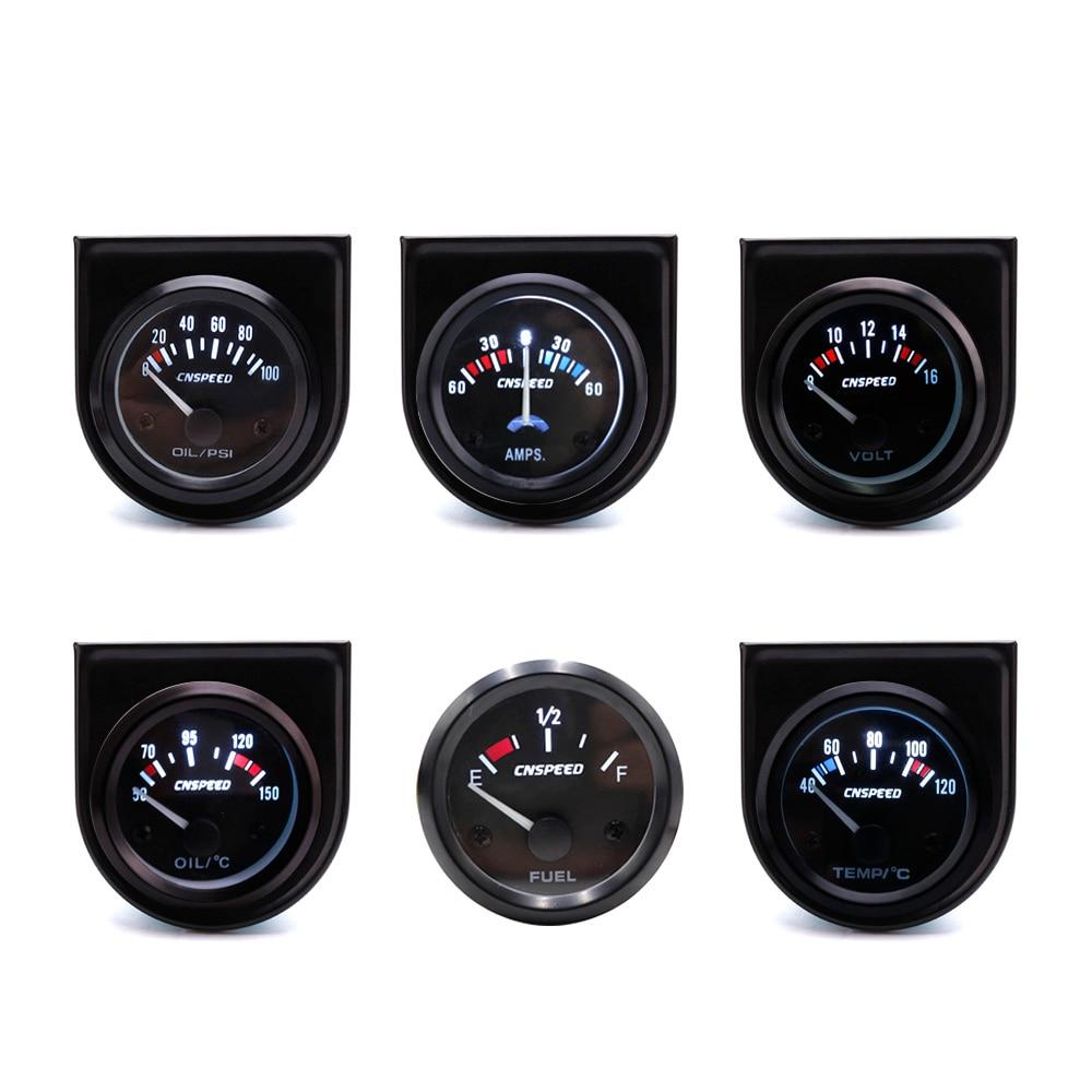 CNSPEED 7 colori LED puntatore digitale auto auto temperatura olio manometro misuratore di temperatura olio auto con sensore 40-140 /° C colore: nero