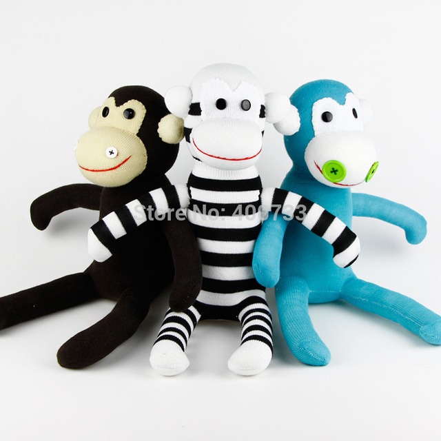 Free Shipping Kids Birthday Gift 100 Handmade Diy Stuffed Sock Animals Doll Baby Toys Sock Monkey Christmas New Year Gifts In Stuffed Plush Animals