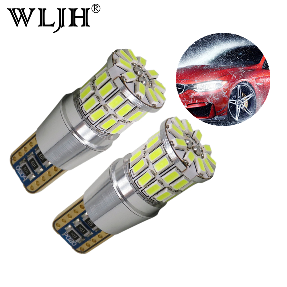 WLJH 2pcs Canbus T10 W5W LED Auto Lamp Clearance Light Parking For <font><b>mitsubishi</b></font> outlander l200 colt galant asx lancer 9 10 <font><b>pajero</b></font> image
