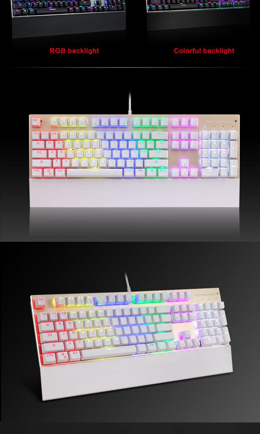 CK108 Mechanical Gaming Keyboard RGB - COCOLMALL DEAL
