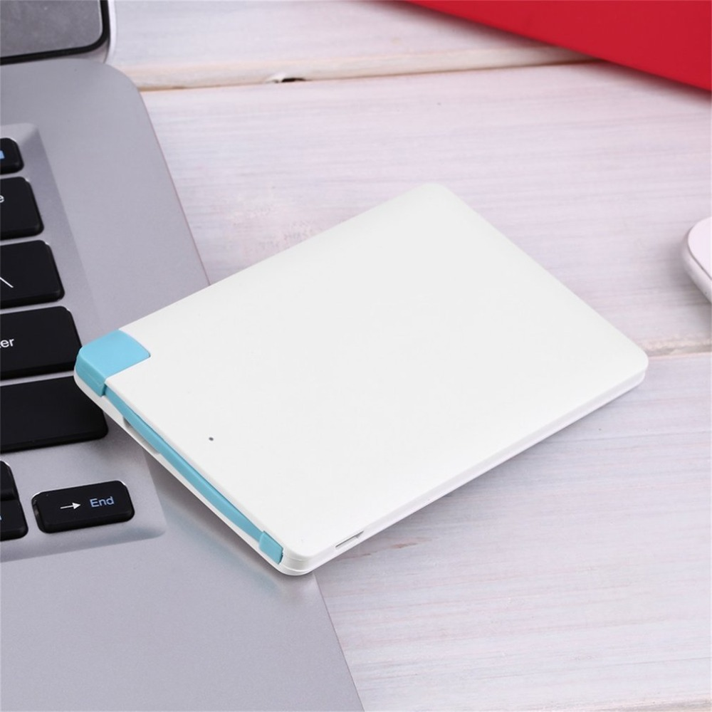 1500mAh Ultra Slim Power Bank Portable External Battery USB Powerbank For Cell Phone Quick Charge Travel Power Supply Tool