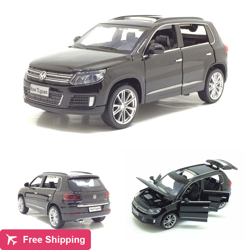 New 1/32 VW Volkswagen Tiguan Diecast Metal SUV Alloy Car Model For Kids Christmas Gifts Collection Free Shipping