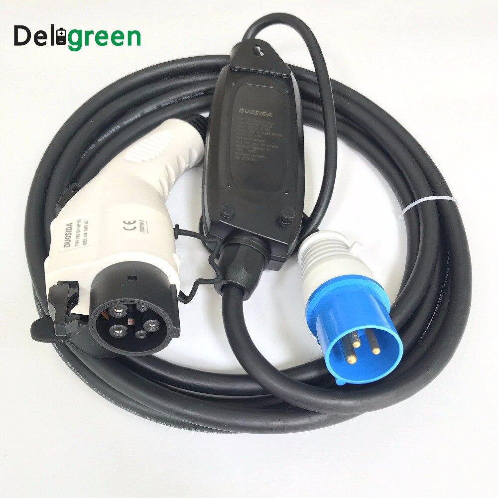 Duosida EV chargeur de voiture 16A Level1 250 v Portable Bleu Rouge cee Mode1 Ev câble de charge pour Nissan leaf/yotaka