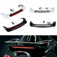 Motorcycle ABS Trunk Spoiler LED Red Rear Brake Light For Honda Goldwing GL1800 01 17 15 motorbike accessories