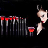 High Quality 12pcs Makeup Brush Set With Soft Synthetic Hair And Bag 4 Color Available For