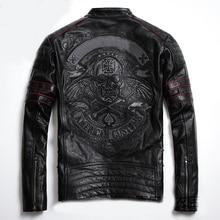 Men women Retro style skeleton skull PU Motorcycle rider leather jacket for Harley moto XL 883 1200 72 48 Road King fat boy