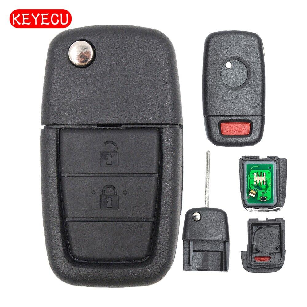 Keyecu полный удаленный Флип брелок 2 кнопки + паника 433 мГц ID46 чип для UTE Холден VE Commodore Omega берлина