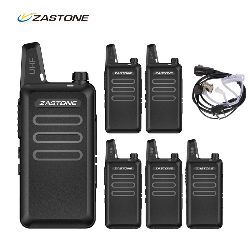 6pcs Zastone X6 Mini Walkie Talkie Portable Radio cb Radio UHF 400 470MHZ Radio Communicator Radio
