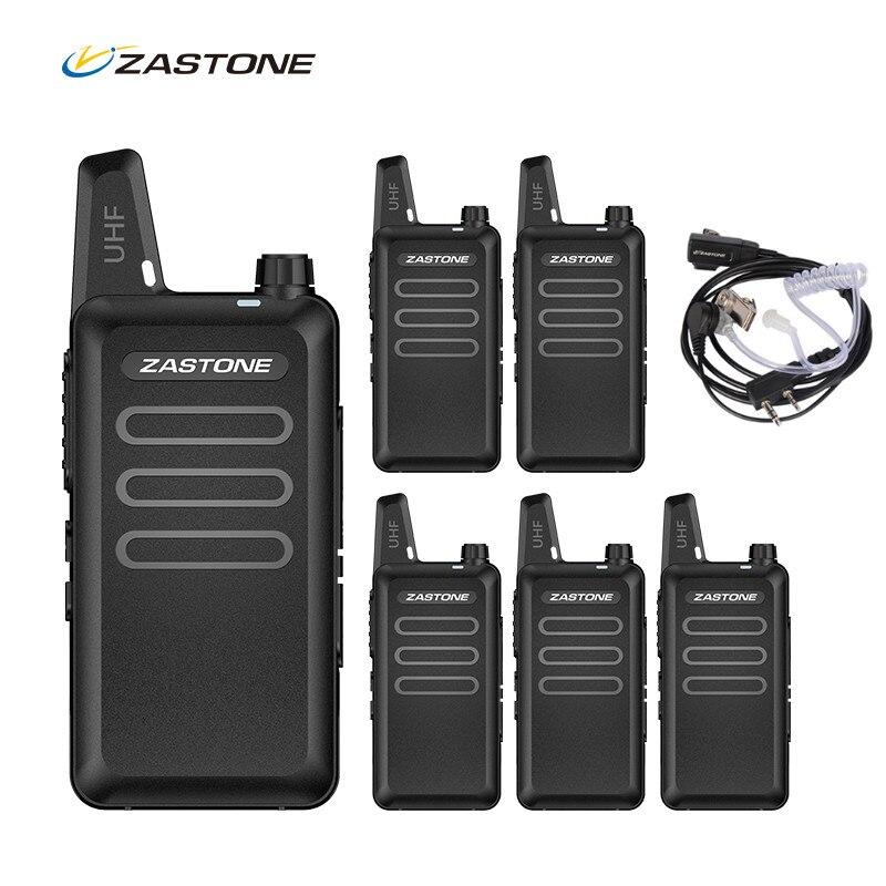 6 個 Zastone X6 ミニトランシーバーポータブルラジオ cb ラジオ UHF 400 470 MHZ ラジオコミュニケー無線トランシーバヘッドセット  グループ上の 携帯電話 & 電気通信 からの トランシーバー の中 1