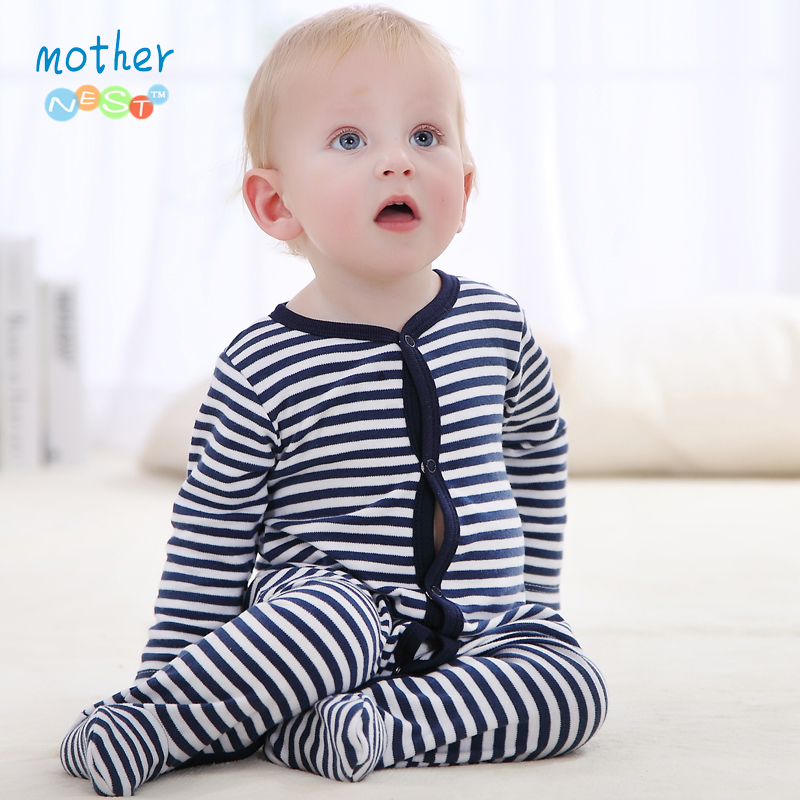 Baby Clothing 2016 New Newborn Baby Stripe Romper New Arrival Baby Girl Clothes Cotton Long Sleeve Baby Jumpers Infant Clothing