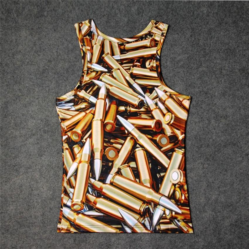 Fashion Pile of Bullets 3D Print Tank Tops Kids Men Women Undershirt teen Cotton Tee Loose Unisex Garment