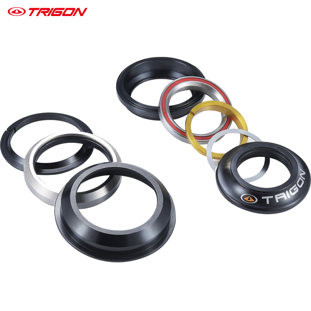 TRIGON MTB M2 moutain bike bicycle taper steerer threadless headset 1 1/8 -1.5 taper bearing headset bicycle headset kcnc bicycle heasets parts taper 1 5 1 1 8 khs pt1860 taper integral gold os41 8mm 51 8mm bearings lightweight 92g