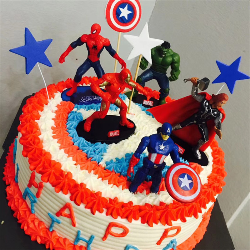 Terrific Hot Toys Avengers Superhero Party Cake Topper Avengers Toys Personalised Birthday Cards Rectzonderlifede