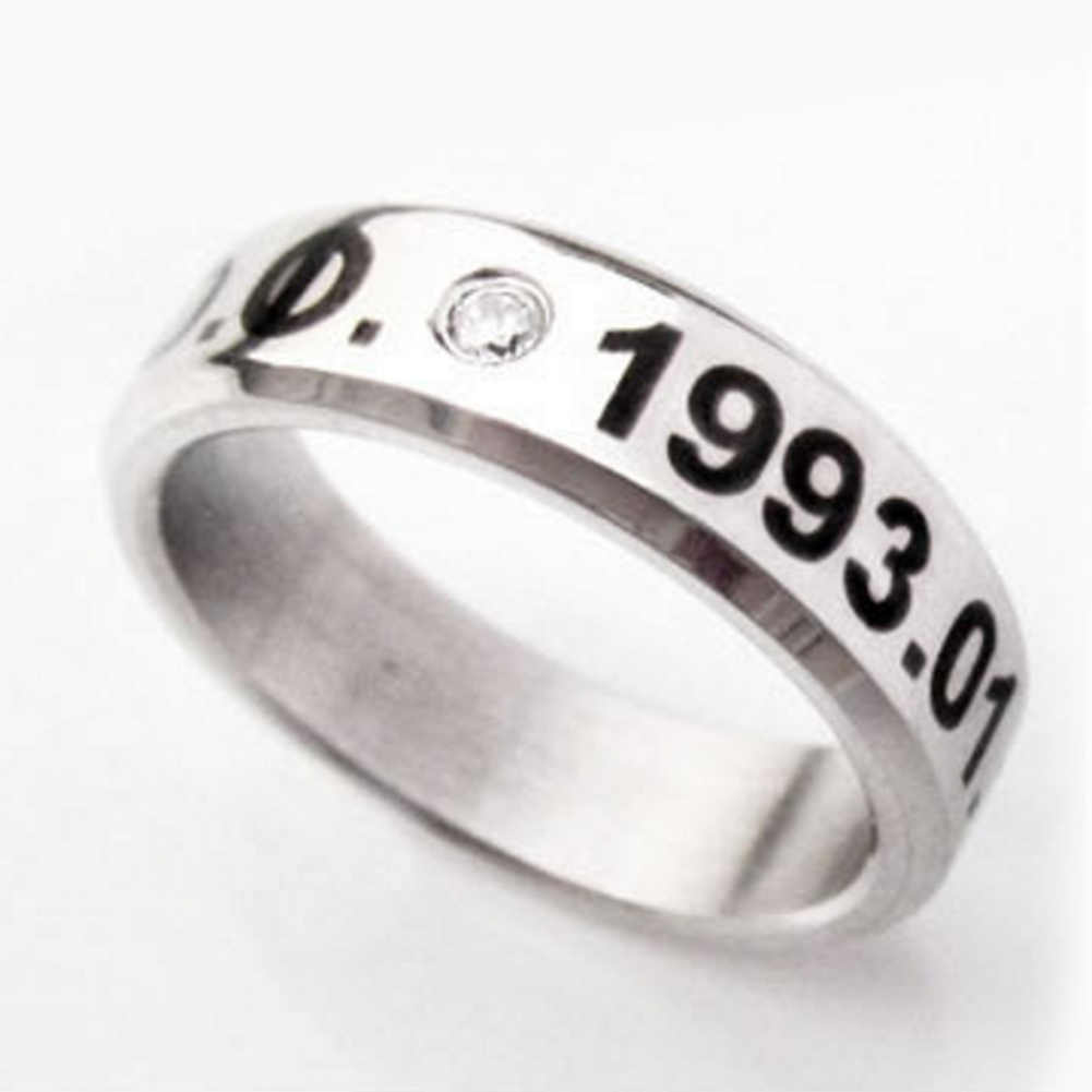 Kpop Team EXO Birthday Memorial Exo Titanium Ring EXO  free shipping