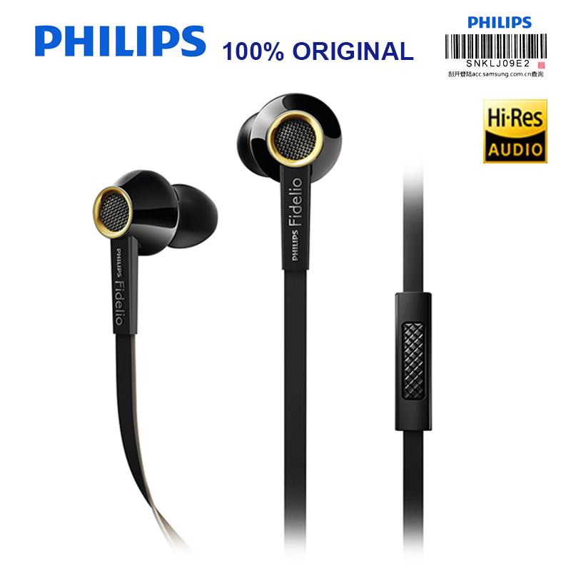 PHILIPS S2 Original Wired HIFI Headses In-Ear Sereo Support Official Verification Music Earphones for Smartphones S8 S8Plus ovevo s8 wired in ear earphones black