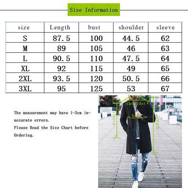 Litthing 2019 мужской Тренч зимнее тонкое Полупальто мужское шерстяное пальто для отдыха Длинные секционные пальто однотонные повседневные модные пальто