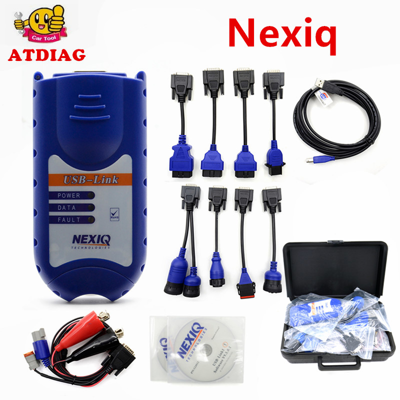 With Plastic box NEXIQ Auto Heavy Duty Truck Scanner tool NEXIQ USB Link on sale nexiq