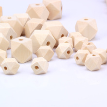 OlingArt 12mm/16mm/18mm/20mm mixing 12pcs/lot Wooden Octagon beads natural childrens jewelry Making toys DIY crafts Accessories