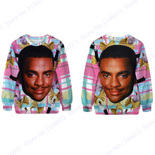 Alfonso Ribeiro Hoodie The Fresh Prince of Bel Air Exercise Sweater Autumn Pink Tartan Sweatshirt Tracksuit Women Carlton Banks