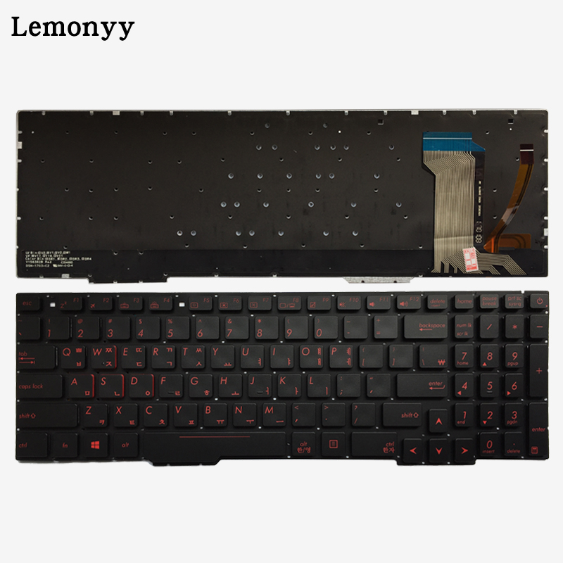 Korean Laptop Keyboard For ASUS GL553 GL553V GL553VW ZX553VD ZX53V ZX73 FX553VD FX53VD FX753VD FZ53V KR keyboard with backlit laptop keyboard for acer silver without frame bulgaria bu v 121646ck2 bg aezqs100110