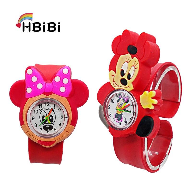 Relogio Infantil 3D Cartoon Mickey Simple Kids Watches Rubber Quartz Children Watch For Girls Boys Clock Kindergarten Baby Gift