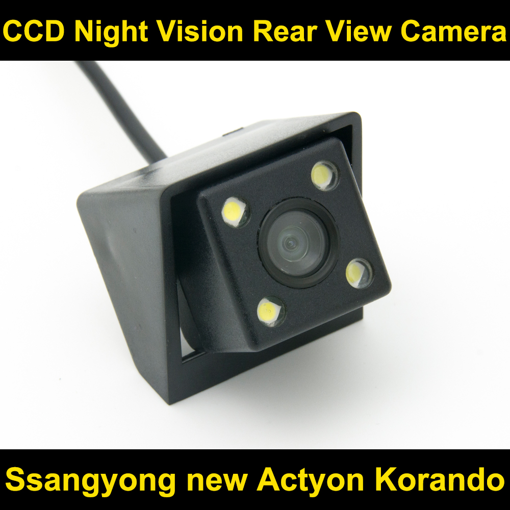 Car rear view camera for Ssangyong new Actyon Korando CCD Night Vision BackUp Reverse Parking Camera car rear view camera with intelligent dynamic trajectory tracks parktronic ccd reverse backup 8 ir parking cam night vision ip68