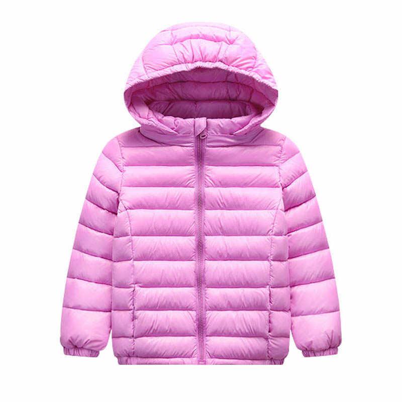 1-12 jahre Baby Mädchen Jungen Parka Licht Kinder Jacke Haube Ente Unten Mantel Winter Kinder Jacke Frühling Herbst kleinkind Oberbekleidung