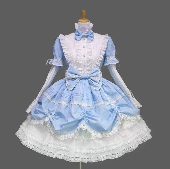 Royale Barbie Lolita robe gothique arc col montant dentelle princesse robe Costume