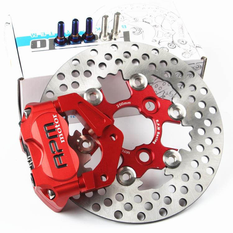 Motorcycle Accessories Electric Refit RPM Small Radiation Caliper Brake Pad Brake Disc 200 220mm Adapter Bracket