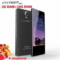 Originale telefoni a buon mercato celular mobile 5.5 pollice BYLYND M13 13MP 2G di Ram MTK6735 android 5.1 smaphones 1920X1080 4G auricolare libero