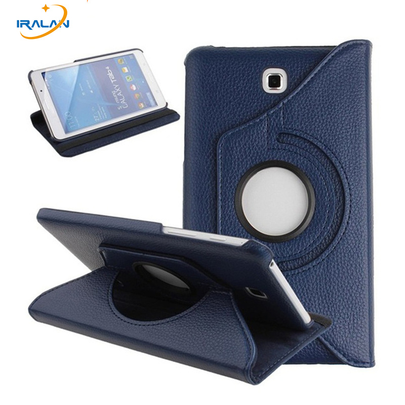 New high quality 360 Rotating Case For Samsung Galaxy Tab 4 7.0 T230 T231 T235 Tablet PU Leather stand Cover+screen film+stylus ultra thin smart flip pu leather cover for lenovo tab 2 a10 30 70f x30f x30m 10 1 tablet case screen protector stylus pen