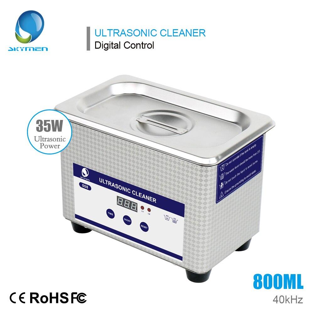 Nettoyeur à ultrasons 0.8L Minuterie Bijoux outils de manucure Pièces Cutters Bain À Ultrasons Dentaire Lunettes Stérilisateur machine à laver