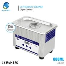 Ультразвуковой очиститель 0.8L Таймер Ювелирные изделия маникюр инструмент части резаки ультразвуковая ванна стоматологические очки стерилизатор стиральная машина