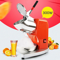 Household Commercial Electric Ice Crusher Ice Shaver Machine Summer Snow Cone Maker Shaved Ice Making Machine Easy Operation