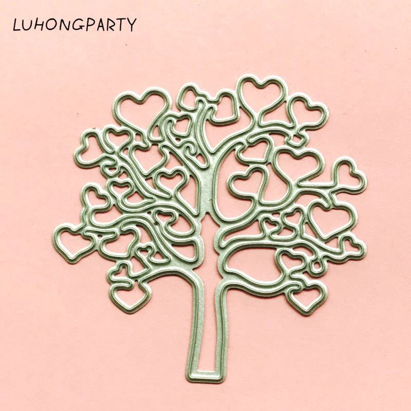 Love Hearts Tree / Wishing Tree Card Maker Metal Die Cutting Dies For DIY Scrapbooking Foto Album Dekorativ Embossing Folder