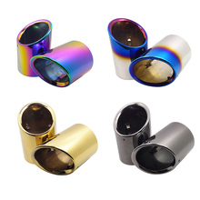 Fit For Cadillac ATS Car Rear Tail Throat Muffler Decoration Accessories Automobile Styling Stainless Steel Exhaust Pipes Tips
